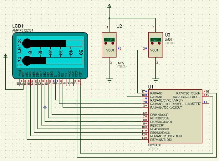 LCD-термометра написан при